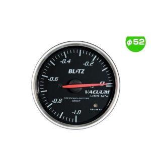 BLITZ ブリッツ No.19572 レーシングメーターSD バキューム計 φ52(RED指針、WHITE照明)|car-parts-shop-mm