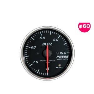 BLITZ ブリッツ No.19564 レーシングメーターSD 圧力計 φ60(RED指針、WHITE照明)|car-parts-shop-mm