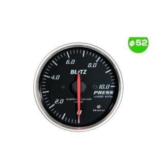 BLITZ ブリッツ No.19574 レーシングメーターSD 圧力計 φ52(RED指針、WHITE照明)|car-parts-shop-mm