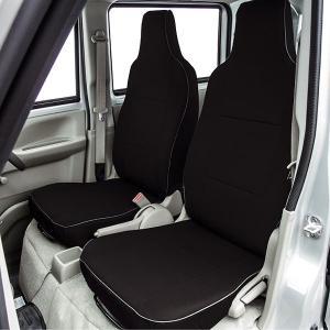 スズキ エブリィバン専用 撥水加工布製 シートカバー車1台分フルセット ブラック/黒色 M4-51|car-pro