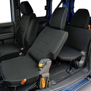 ボンフォーム ホンダ 軽自動車 N-VAN AT車 専用 撥水加工 布製 シートカバー 車1台分フルセット ブラック / 黒色 M4-68|car-pro