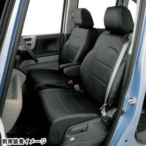 ボンフォーム ホンダ N-BOX カスタム バケットシート車 専用 レザーシートカバー 車1台分セット 型式 JF3 JF4 H29.9〜R1.9 ブラックレザー 黒ステッチ M4-63|car-pro