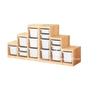 送料無料IKEATROFAST(トロファスト)収納コンビネーションパイン材 ホワイト/ホワイト188x44x91 cm PK2-WS6WM9