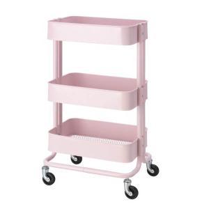 送料無料 IKEA イケア RASKOG ロースコグ ワゴン ライトピンク アイランドキッチン ワゴ...