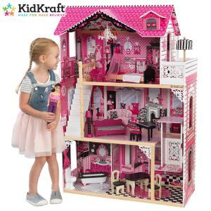 おもちゃ 女の子 ままごと ドールハウス 木製 キッドクラフト アメリア