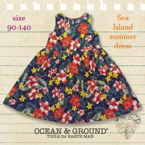 【ネコポス・ゆうパケットOK】Ocean&Ground オーシャンアンドグラウンド SEA ISLAND SUMMER DRESS 90-140 18ss caramelmama