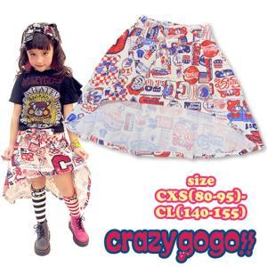 【ポスト便なら送料無料】crazy gogo!! クレイジーゴーゴー!! RADY GO スカート CXS(80-95)-CL(140-155) 18ss【ネコポスOK・ゆうパケットOK】|caramelmama
