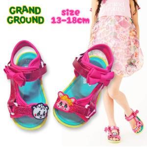 Grand Ground グラグラムゥ〜 リボンスポーツサンダル 13-18cm 18ss|caramelmama