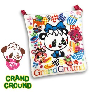 【ネコポス・ゆうパケットOK】Grand Ground グラグラムゥ〜 ハッピィ〜inWLタオル巾着 18ss|caramelmama