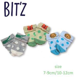 【2018spring】Bit'z ビッツ 3柄動物3Pソックス 7-9cm/10-12cm 18spring|caramelmama