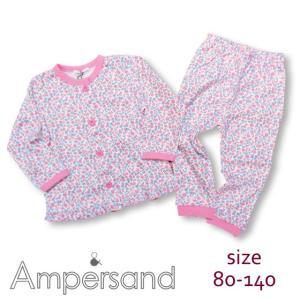 【30%OFF SALE】【ネコポス・ゆうパケットOK】ampersand アンパサンド Girl's小花柄前開きパジャマ 80-140 18spring caramelmama