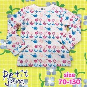 【2018spring】petit jam プチジャム 春のかすれお花柄長袖Tシャツ 70-130 18spring|caramelmama