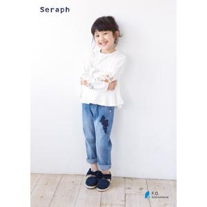 【2018spring】seraph セラフ 9分丈デニムパンツ 80-140 18ss|caramelmama