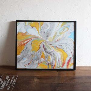 バリアート 絵画 抽象画 モダン W83×H63 バリ風 インテリア|caran2