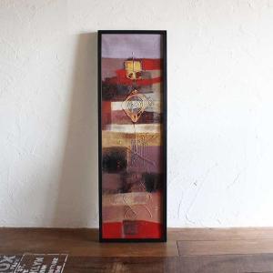 バリアート 絵画 抽象画 モダン W33×H103 バリ風 インテリア|caran2