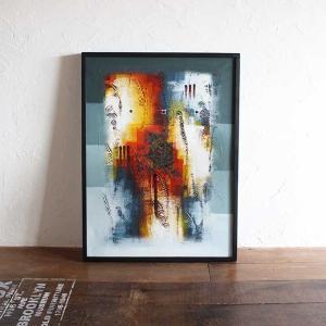 バリアート 絵画 抽象画 モダン W63×H83 バリ風 インテリア|caran2