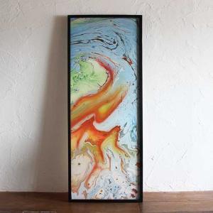 バリアート 絵画 抽象画 モダン W48×H123 バリ風 インテリア|caran2