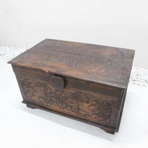 木の収納ボックス 木箱 おもちゃ箱 道具箱 caran2
