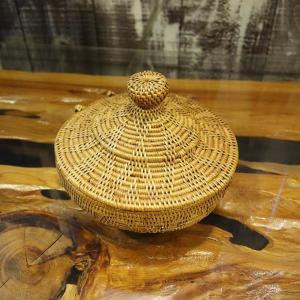 バリ島のアタ おしゃれ 蓋つき 小物入れ バスケット|caran2