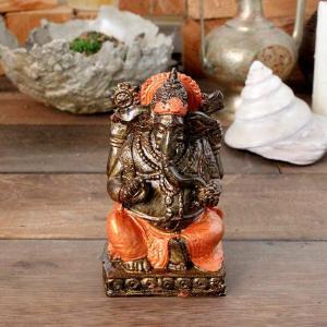 象の神様 ガネーシャの置物 ゴールド H15cm バリ島 インテリア オブジェ caran2
