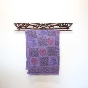 イカットハンガー バリ彫刻 100cm バリ風 アジアン 木彫り 木製ハンガー|caran2