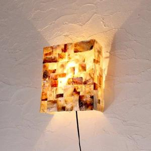 カピス貝のアジアンライト 壁掛け 照明 H31cm caran2