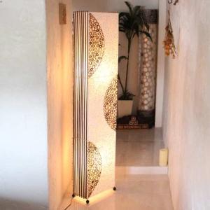 カピス貝 バリ風 フロア スタンドライト 照明 アジアン ライト H150cm|caran2
