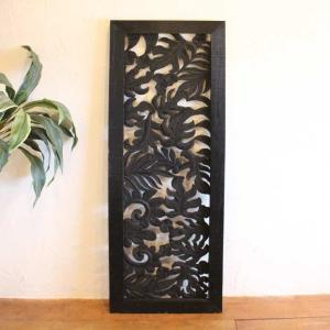 レリーフ アジアン 彫刻 140×50cm バリ風 壁飾り インテリア|caran2