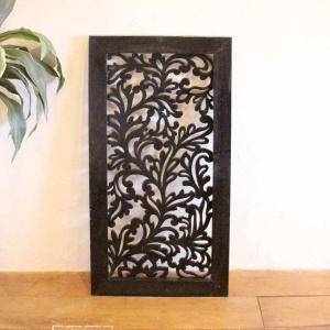 レリーフ アジアン 彫刻 100×50cm バリ風 壁飾り インテリア|caran2