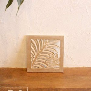 レリーフ アジアン 彫刻 30×30cm バリ風 壁飾り インテリア|caran2
