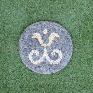 踏み石 飛び石 ステップ ガーデン ストーン 庭石 コンクリート 丸型30cm|caran2