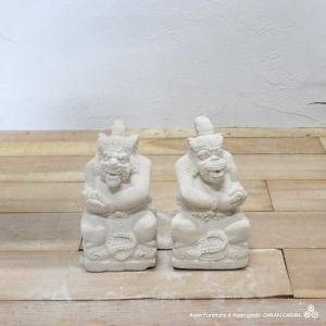 ムルダー トゥアレン 厄除け 商売繁盛 バリ島の石像 置物 H23cm バリ風 アジアン インテリア|caran2