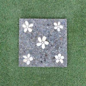 踏み石 飛び石 ステップ ガーデン ストーン 庭石 コンクリート 四角30cm|caran2