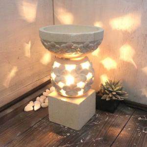 灯篭 石像 ライト 照明 プルメリア H26 バリ風 アジアン インテリア|caran2