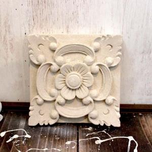 ストーンレリーフ 石の壁飾り 15cm アジアンガーデン バリ風 お庭 DIY|caran2