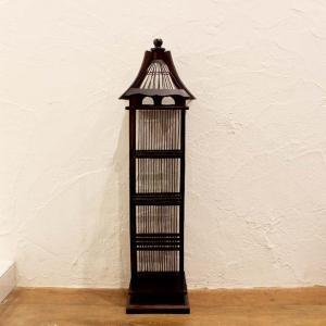 鳥かご風 飾り棚 CDラック H90cm caran2