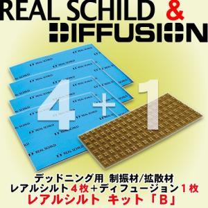レアルシルト/REAL SCHILD RSDB/ESDB デッドニング用制振シート 4枚+拡散/反射/吸音シート 1枚のセット