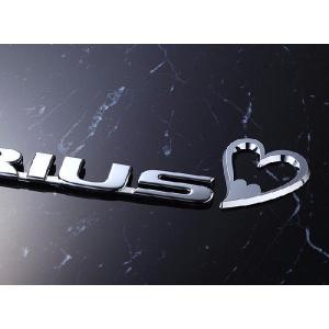 【DM便限定】プリウスzvw30専用PRIUSエンブレムアクセサリーチャーム(ハート3)車のエンブレムを可愛く飾るドレスアップチャーム☆|carboutiqueif2