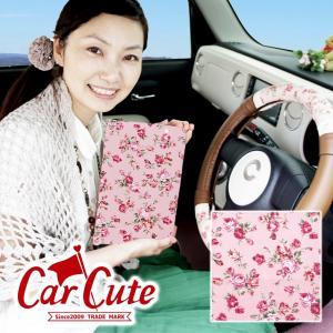 車検証ケース(ブックカバータイプ)アンティークフラワー ピンク (バラ/花柄/フラワー/かわいい/おしゃれ)|carcute