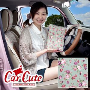 車検証ケース(ブックカバータイプ)アンティークフラワー グリーン(バラ/花柄/フラワー/かわいい/おしゃれ/ピンク)|carcute