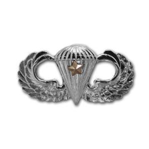 アメリカ陸軍 技能章 - パラシュート戦闘降下章 第1回目 サービスドレス胸用 米軍 ミリタリーバッジ|card-museum