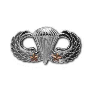 アメリカ陸軍 技能章 - パラシュート戦闘降下章 第2回目 サービスドレス胸用 米軍 ミリタリーバッジ|card-museum