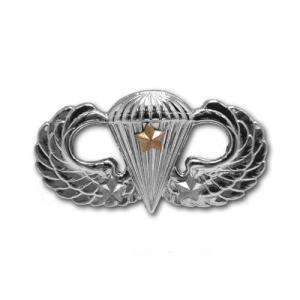 アメリカ陸軍 技能章 - パラシュート戦闘降下章 第3回目 サービスドレス胸用 米軍 ミリタリーバッジ|card-museum