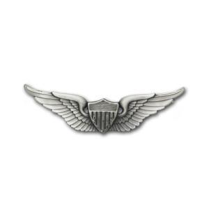 アメリカ陸軍 技能章 - アビエイター章 - いぶし銀仕上 サービスドレス胸用 米軍 ミリタリーバッジ|card-museum