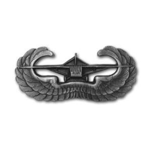 アメリカ陸軍 技能章 - 空挺グライダー章 - いぶし銀仕上 サービスドレス胸用 米軍 ミリタリーバッジ|card-museum