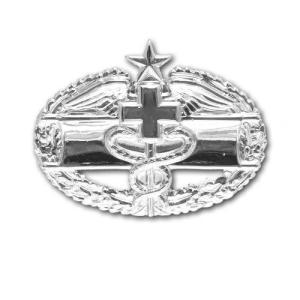 アメリカ陸軍 技能章 - 戦闘医療技能章 第2回目 サービスドレス胸用 米軍 ミリタリーバッジ|card-museum