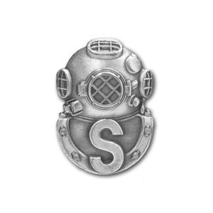 アメリカ陸軍 技能章 - サルベージダイバー章 - いぶし銀仕上 サービスドレス胸用 米軍 ミリタリーバッジ|card-museum