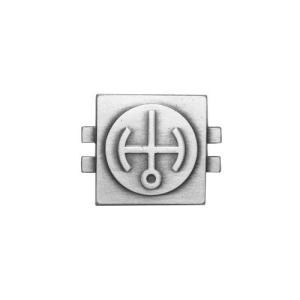 アメリカ陸軍 技能章 - 原子炉オペレーター章 ベーシック - いぶし銀仕上 サービスドレス胸用 米軍 ミリタリーバッジ|card-museum