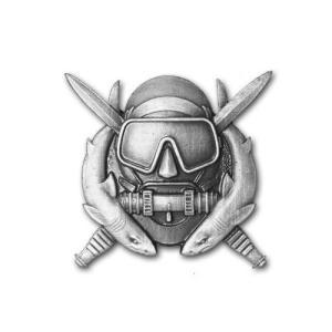 アメリカ陸軍 技能章 - 特殊作戦ダイバー章 - いぶし銀仕上 サービスドレス胸用 米軍 ミリタリーバッジ|card-museum