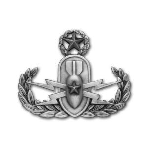 アメリカ陸軍 技能章 - 爆発物処理 マスター章 - いぶし銀仕上 サービスドレス胸用 米軍 ミリタリーバッジ|card-museum
